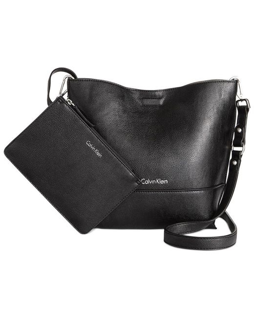 Calvin Klein | Black Reversible Novelty Messenger | Lyst