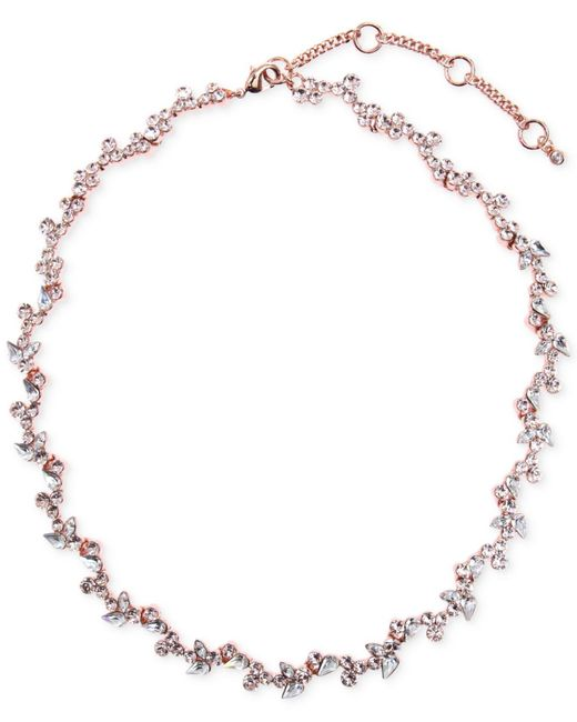 Givenchy | Pink Rose Gold-tone Flower Collar Necklace | Lyst