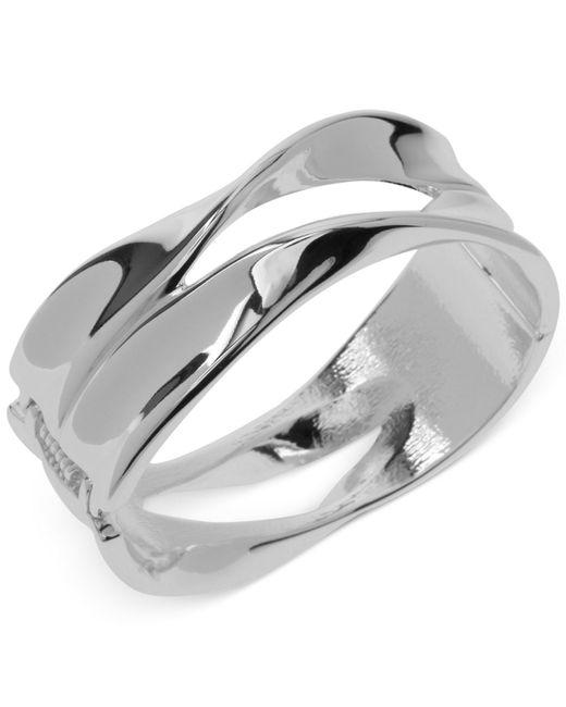 Robert Lee Morris | Metallic Silver-tone Sculptural Hinged Bangle Bracelet | Lyst