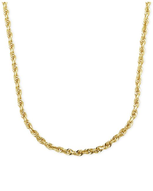 "Macy's - Metallic Rope Chain 24"" Necklace In 14k Gold - Lyst"
