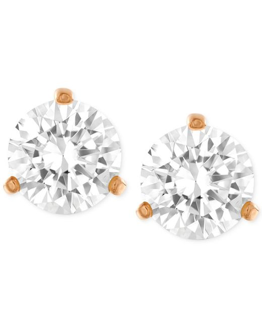 Swarovski | Metallic Gold-tone Crystal Stud Earrings | Lyst