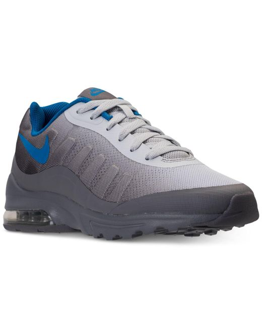 254cd97a92 ... official nike blue air max invigor print running sneakers from finish  line for men lyst eb3d4