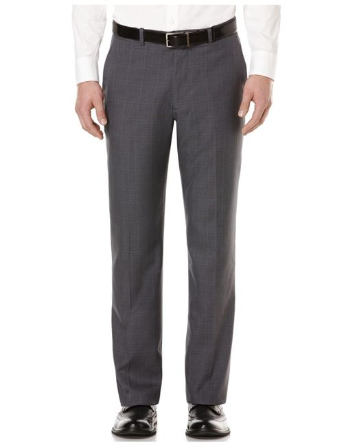 Perry Ellis | Gray Straight-fit Performance Dress Pants for Men | Lyst