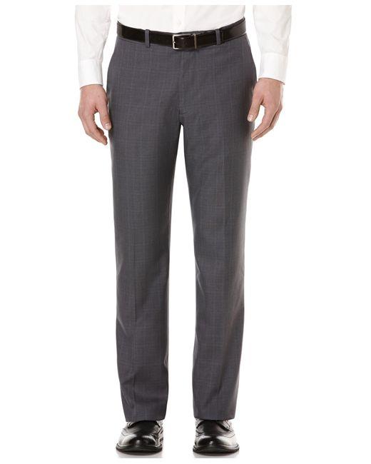 Perry Ellis   Gray Portfolio Straight-fit Performance Stretch Dress Pants for Men   Lyst