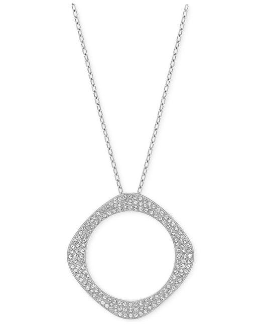 Swarovski | Black Vio Rhodium-tone Long Pendant Necklace | Lyst