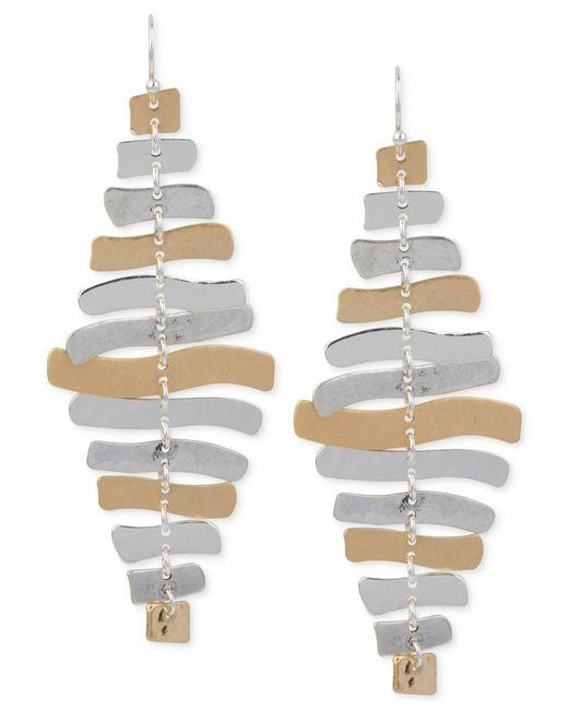 Robert Lee Morris | Metallic Two-tone Sculptural Chandelier Earrings | Lyst
