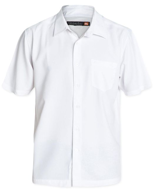 Quiksilver | White Clear Days Solid Short-sleeve Shirt for Men | Lyst