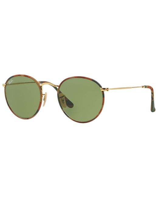 Ray-Ban | Brown Sunglasses, Rb3447jm 50 Round Metal | Lyst