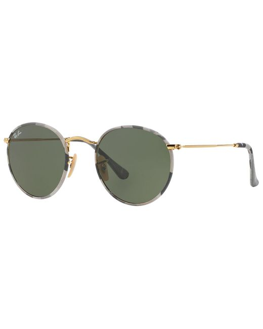Ray-Ban | Gray Sunglasses, Rb3447jm 50 Round Metal | Lyst