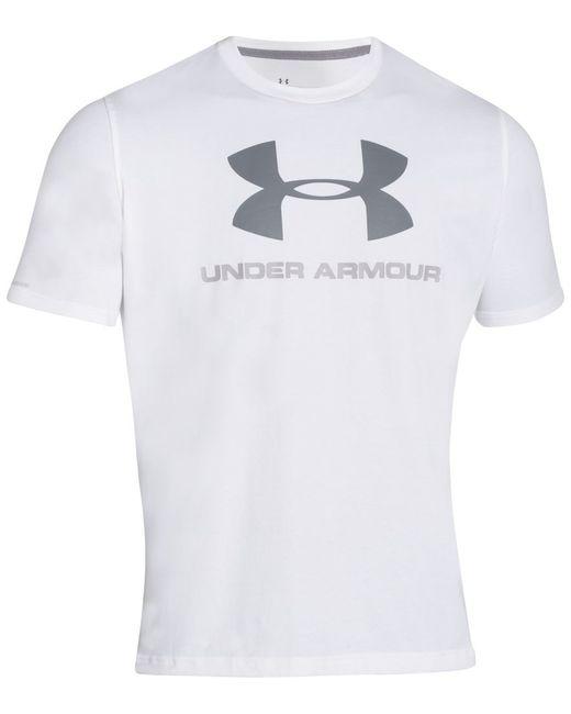 Under Armour | White Men's Sportstyle Logo T-shirt for Men | Lyst