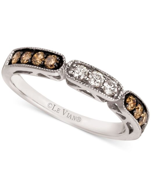 Le Vian | Brown Chocolate And White Diamond Band In 14k White Gold (3/8 Ct. T.w.) | Lyst