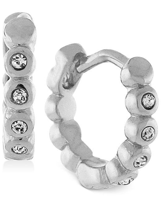 Vince Camuto   Metallic Gold-tone Crystal Hoop Earrings   Lyst