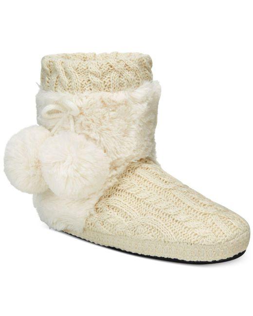 Muk Luks   White Women's Coralee Boot Slippers   Lyst