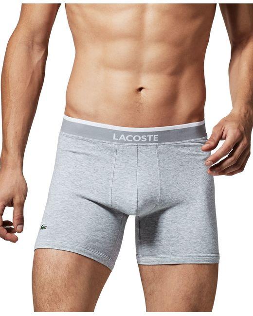 Lacoste | Gray Men's Boxer Briefs 2-pack for Men | Lyst