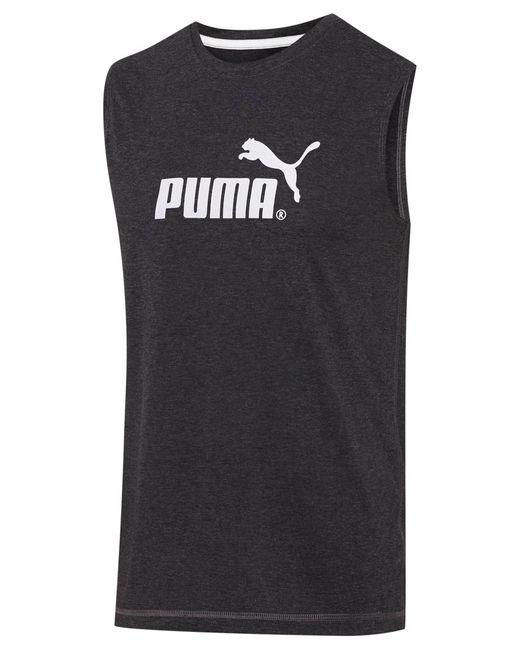PUMA | Gray Men's Logo Muscle Tank for Men | Lyst