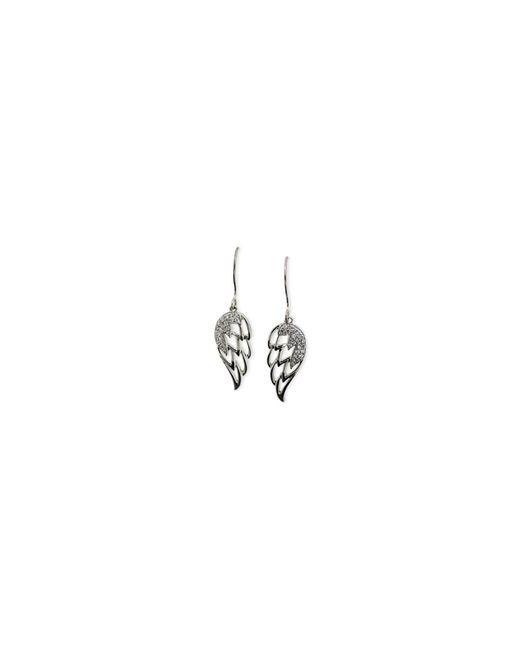 Macy's | Metallic Diamond Angel Wing Earrings (1/5 Ct. T.w.) In 10k White Gold | Lyst
