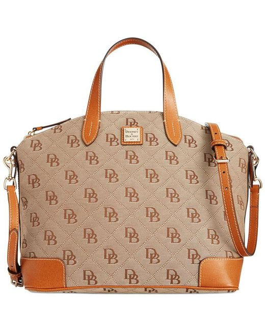 Dooney & Bourke | Natural Gabriella Canvas & Leather Satchel | Lyst