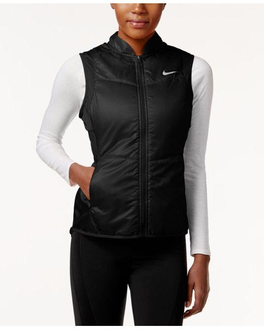 Nike | Black Polyfill Running Vest | Lyst