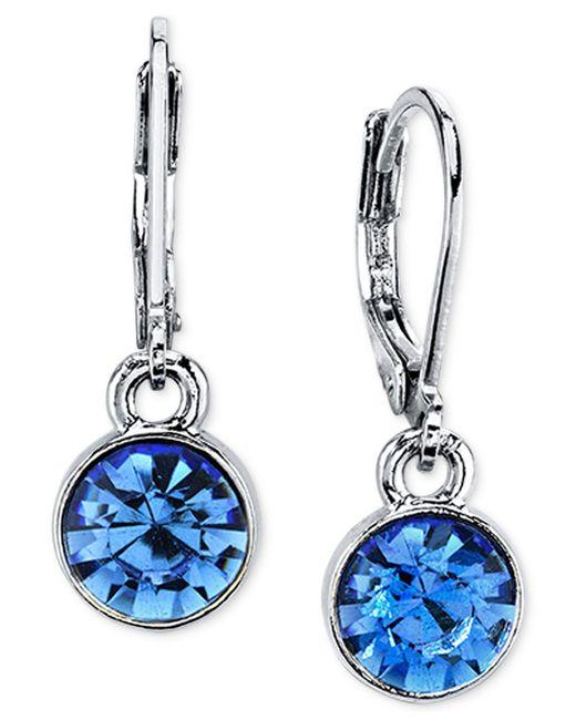 2028 | Blue Round Crystal Drop Earrings | Lyst