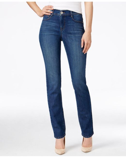 Style & Co. - Blue Tummy-control Slim-leg Jeans - Lyst