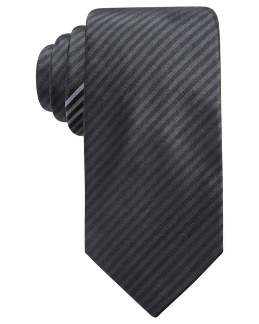 Alfani | Black Men's Stripe Slim Silk Tie, Created For Macy's for Men | Lyst