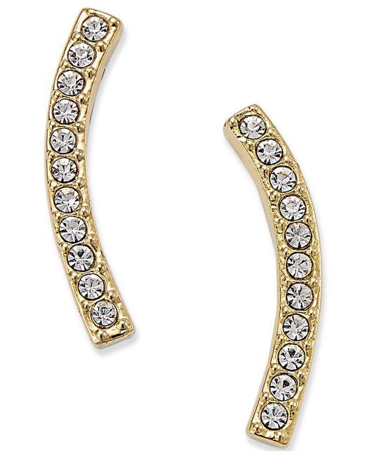 Danori - Metallic Gold-tone Pavé East-west Earrings - Lyst