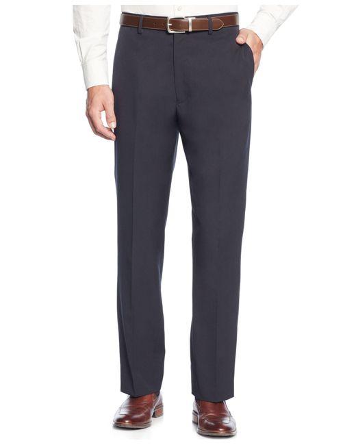 Tommy Hilfiger | Blue Trim-fit Solid Dress Pants for Men | Lyst