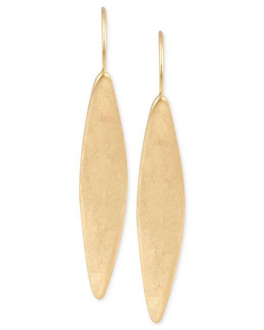 Kenneth Cole | Metallic Gold-tone Linear Earrings | Lyst
