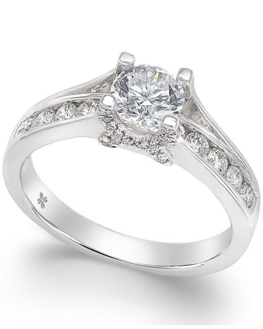 X3 | Metallic Diamond Engagement Ring In 18k White Gold (1 Ct. T.w.) | Lyst