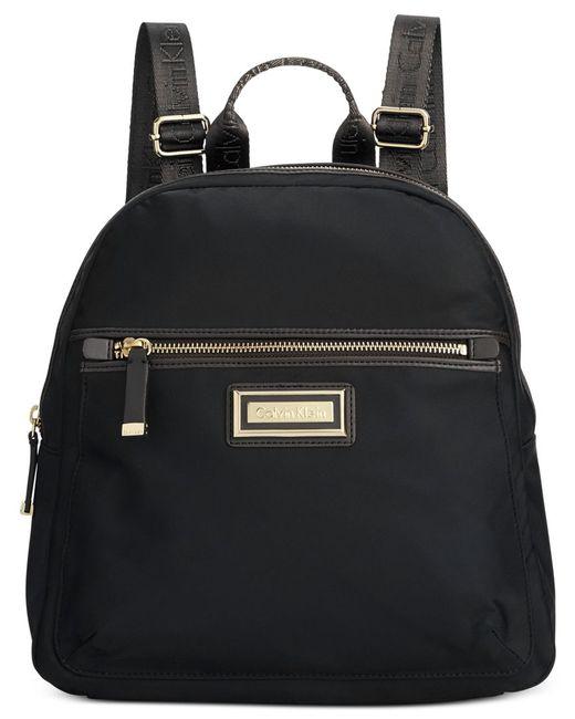 Calvin Klein | Black Dressy Nylon Backpack | Lyst