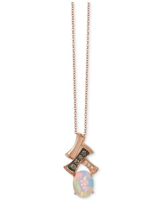 Le Vian   Pink Chocolatier® Gladiator® Opal (2/3 Ct. T.w.) And Diamond Accent Pendant Necklace In 14k Rose Gold   Lyst