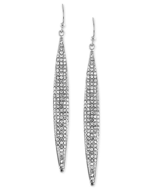 Vince Camuto | Metallic Silver-tone Ombre Glitter Earrings | Lyst