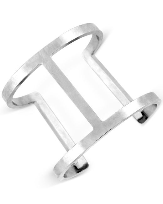 Vince Camuto | Metallic Silver-tone Open Cuff Bracelet | Lyst