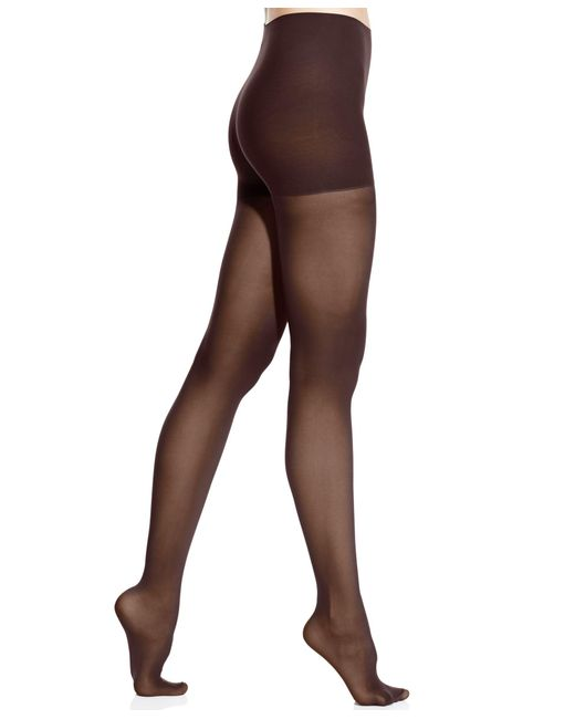 DKNY | Brown Comfort Luxe Semi Opaque Control Top Tights | Lyst