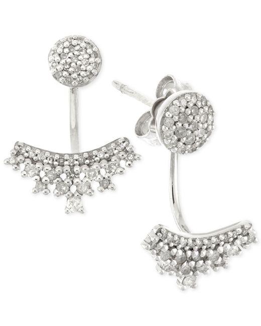 Wrapped in Love | Metallic Diamond Ear Jackets (1/4 Ct. T.w.) In 10k White Gold | Lyst