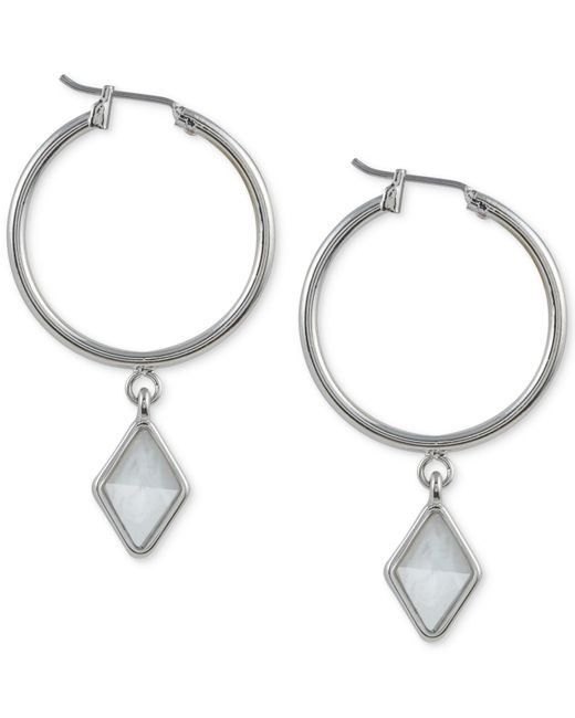 French Connection | Metallic Silver-tone Click-it Kite Drop Earrings | Lyst