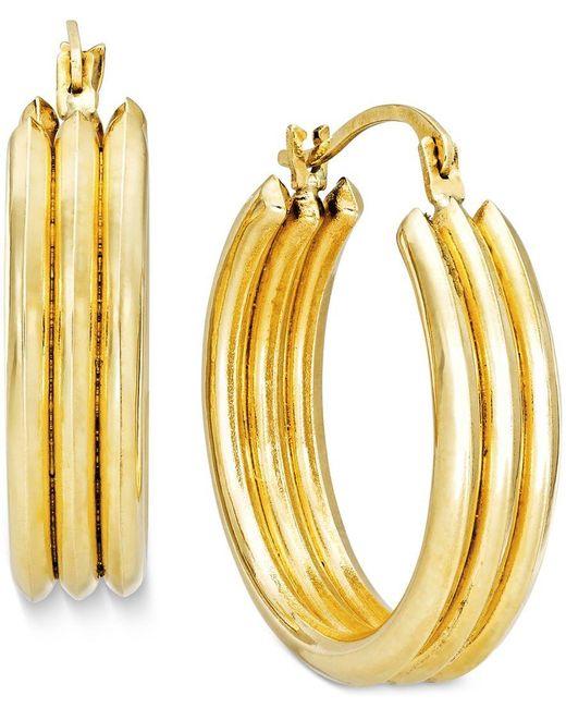 Macy's | Metallic Triple Hoop Earrings In 10k Gold | Lyst