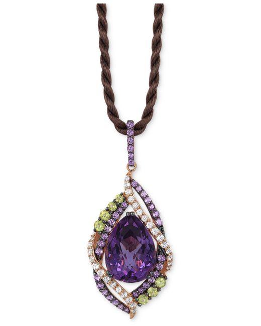 Le Vian | Purple Multi-stone Pendant Necklace (14 Ct. T.w.) In 14k Rose Gold | Lyst