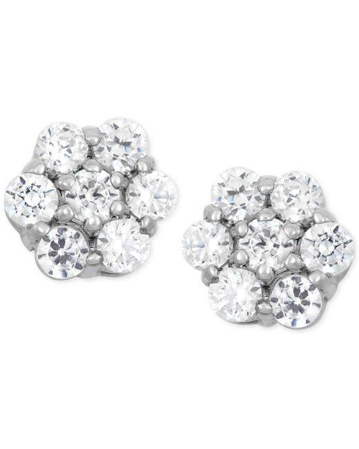 Wrapped in Love | Metallic Diamond Cluster Stud Earrings (1/4 Ct. T.w.) In 14k White Gold | Lyst