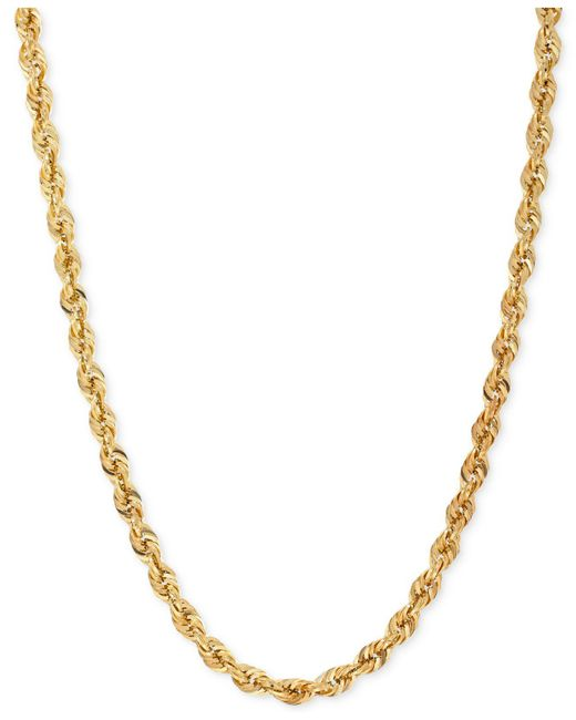"""Macy's - Metallic Rope Chain 24"""" Necklace In 14k Gold - Lyst"""