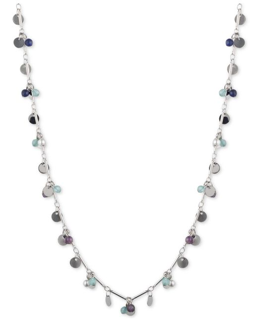 Lonna & Lilly - Blue Long Beaded Strand Necklace - Lyst