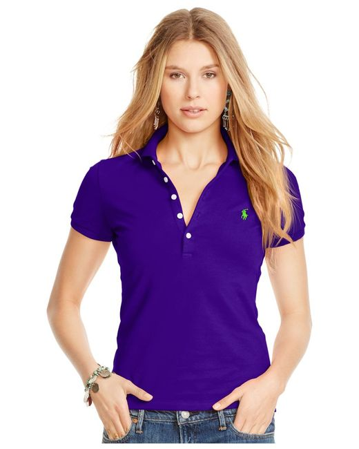 Polo Ralph Lauren | Purple Fitted Stretch Polo | Lyst