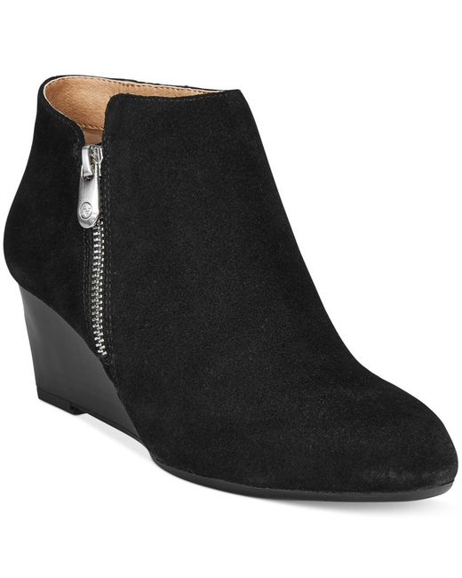 Adrienne Vittadini   Black Meriel Wedge Booties, Only At Macy's   Lyst