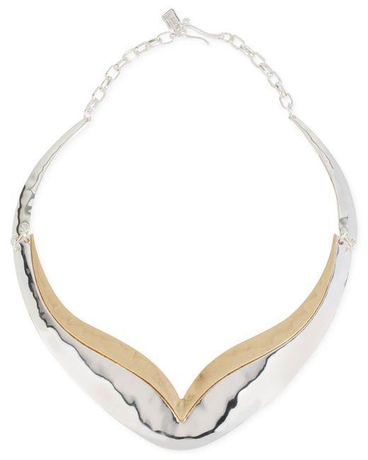 Robert Lee Morris | Metallic Two-tone Sculptured Necklace | Lyst