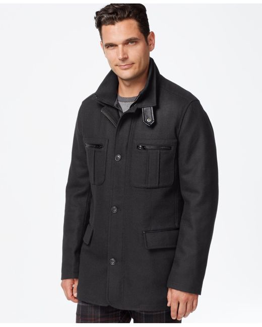 Cole Haan | Gray Melton Jacket for Men | Lyst