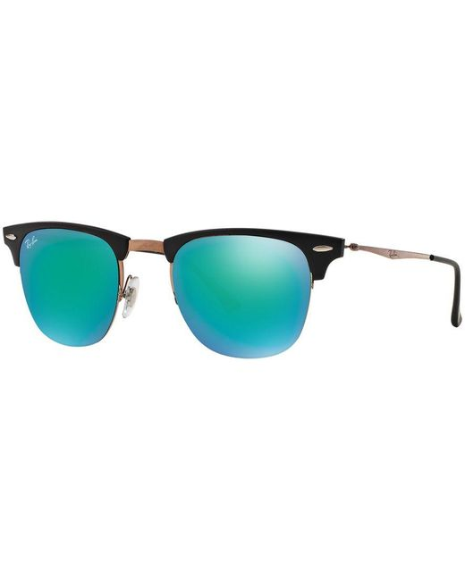 Ray-Ban | Blue Sunglasses, Rb8056 49 Clubmaster Light Ray | Lyst