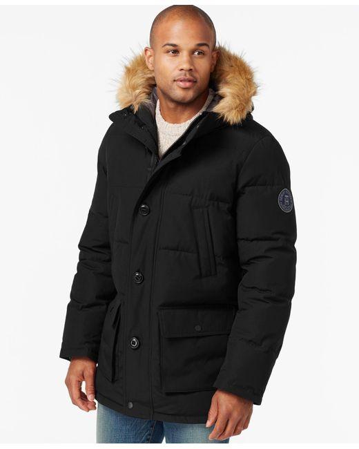 Tommy Hilfiger   Black Long Snorkel Coat for Men   Lyst