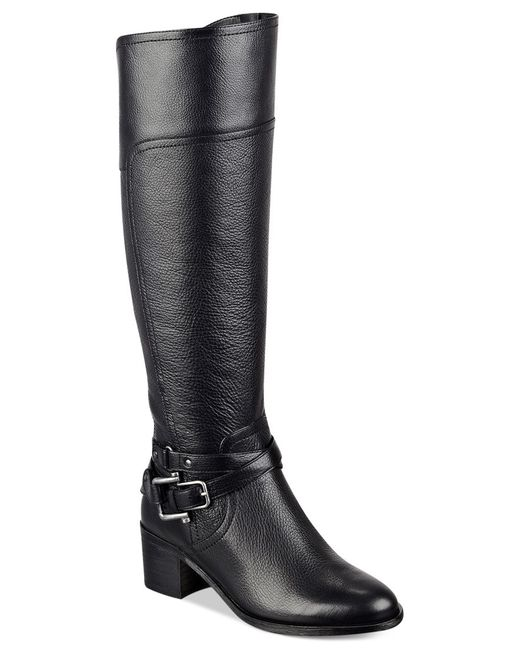 Marc Fisher | Black Kacee Tall Riding Boots | Lyst