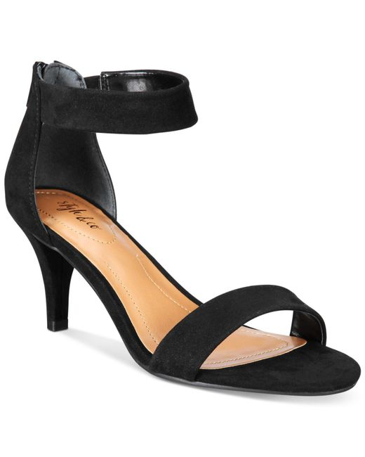 Style & Co. | Black Style&co. Paycee Two-piece Dress Sandals, Only At Macy's | Lyst
