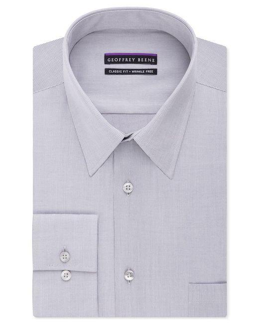 Geoffrey Beene | Purple Men's Classic-fit Wrinkle Free Bedford Cord Dress Shirt for Men | Lyst